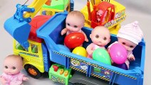 Learn Colors Numbers Tayo Bus & Baby Doll with Pororo Trucks Toy Excavators Surprise Eggs Toys