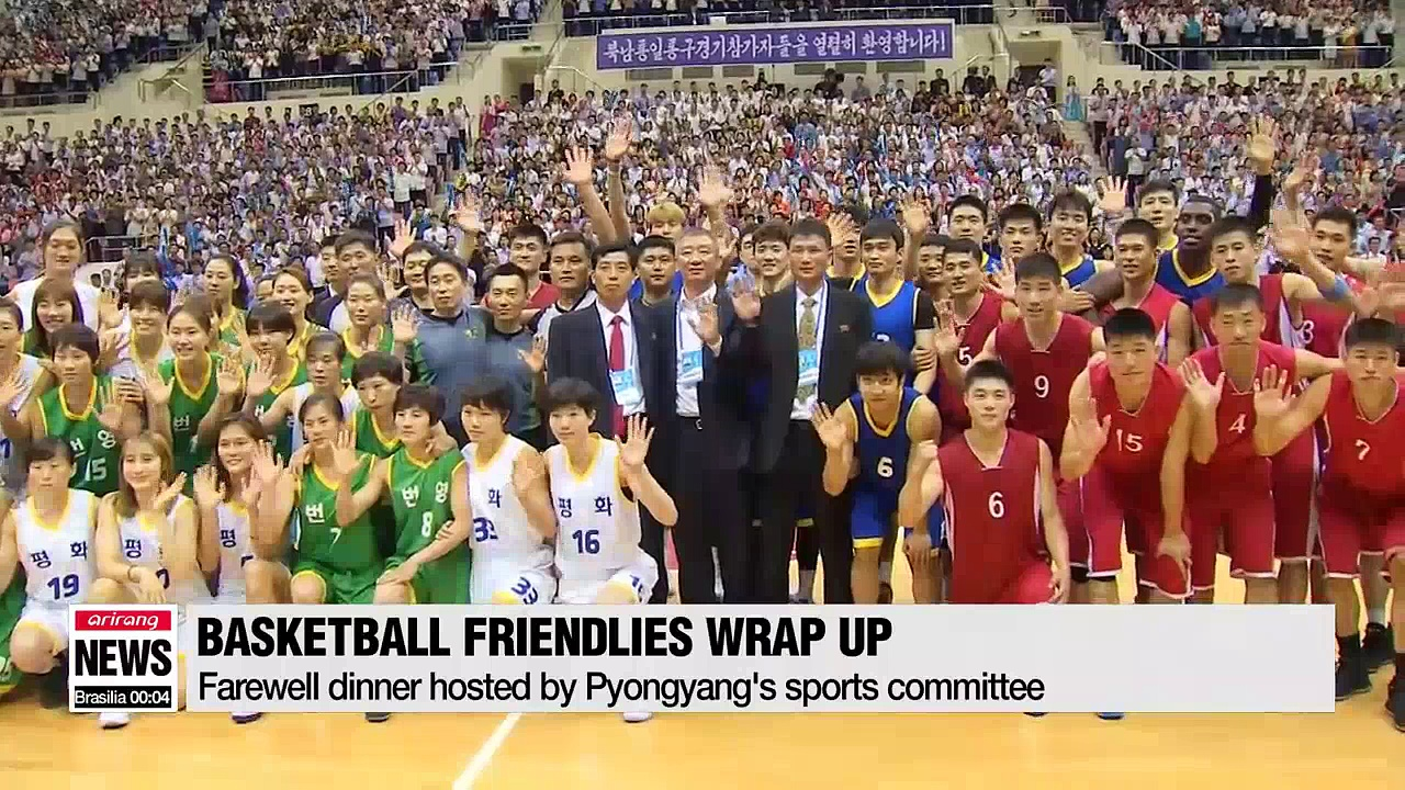 Two Koreas wrap up basketball friendlies, hold sports discussions to continue exchanges
