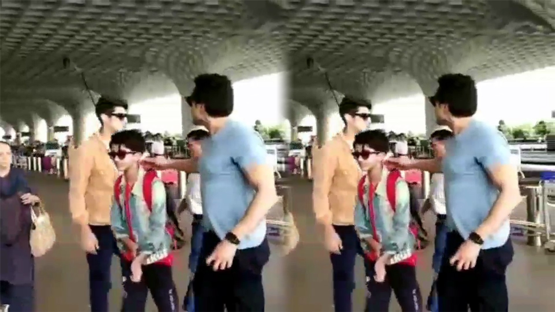 Bobby Deol son Aryaman Deol REFUSES to get CLICKED at Mumbai airport; Watch Video | FilmiBeat