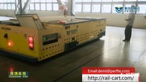 100 t high temperature resistance industrial trackless steerable transfer trolley for workshop transport
