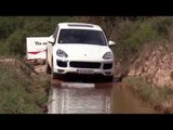 The new Porsche Cayenne S Diesel in White Offroad Water Crossing | AutoMotoTV