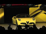 Highlights of the 2015 Alfa Reveal 4C Spider Introduction at 2015 NAIAS | AutoMotoTV