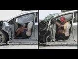 Vehicle improvements 2015 Toyota Prius V Vs 2012-14 Toyota Prius V Crash Test   AutoMotoTV