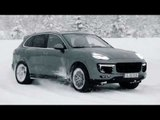 Porsche Cayenne Turbo S Handling track on the Snow | AutoMotoTV