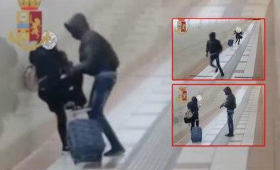 Un immigré sénégalais en Italie demande à une fille l'heure, et lui pique son téléphone. Regardez