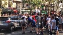 Les supporters français bloquent le trafic parisien!