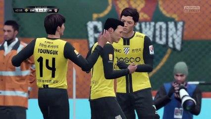 Korean K-League - Jeonnam Dragons @ Gangwon - FIFA 18 Simulation Full Game 8/7/18