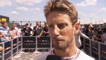 Grand Prix de Grande-Bretagne - L'interview de Grosjean après sa 8ème place sur la grille