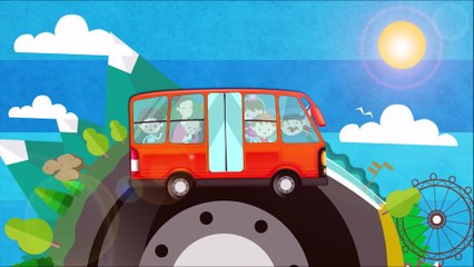 Wheels on the Bus | ABC Song Nursery Rhymes & Kids Songs
