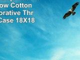 DECOPOW Turquoise Compass Pillow Cotton Linen Decorative Throw Pillow Case 18X18