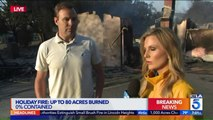 Southern California Homeowner Describes Watching His House Go Up in Flames on Live TV