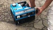 スズキ 550W 2サイクル 発電機  SX650RⅡ 50Hz 使ってみました
