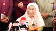Wan Azizah denies having two camps in PKR, on PKR presidency, Parliament speaker's list and more