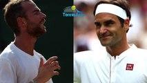 """Wimbledon 2018 - Adrian Mannarino : """"Contre Roger Federer, si tu joues pas bien, ça va très très vite"""""""