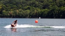 Jetski aux Lacs de l'Eau d'Heure: double back flip de Lee Stone