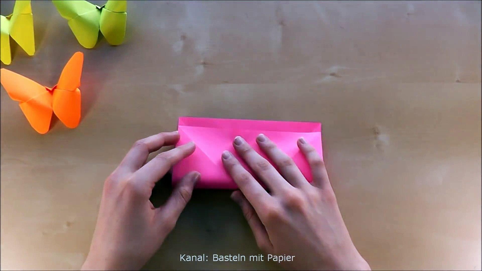 Basteln Origami Schmetterling Falten Mit Papier Bastelideen Geschenke Diy Deko