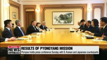 Top diplomats of South Korea, U.S. and Japan reaffirm North Korea's willingness to denuclearize but will maintain economic sanctions until it occurs