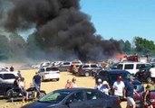 Grass Fire Burn Dozens of Cars at Ontario Festival