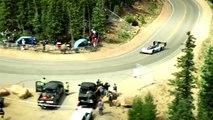 Record de la Volkswagen I.D. R Pikes Peak vue depuis un hélicoptère
