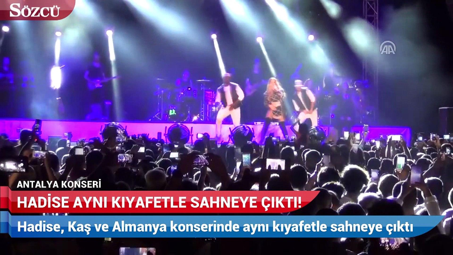 Hadise, Kaş ve Almanya konserinde aynı kıyafetle sahneye çıktı