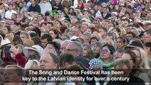 Latvian mega choir echoes Baltic state's history