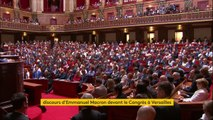 """""""Je souhaite renouer avec ce projet français que nous avons perdu de vue trop longtemps par frilosité ou confort intellectuel"""", conclut Emmanuel Macron devant le Congrès à Versailles"""
