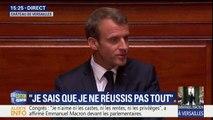 """Macron devant le Congrès: """"Il ne saurait y avoir de baisse de la fiscalité sans un ralentissement de la hausse continue de nos dépenses"""""""