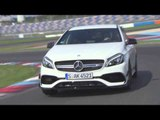 The new Mercedes-AMG A 45 4MATIC Jupiter Red - Racetrack Exterior Design Trailer | AutoMotoTV