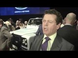 Land Rover Defender 2,000,000 Bonhams Auction - Interview Gerry McGovern | AutoMotoTV