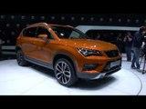 SEAT presents at Geneva Mator Show 2016 the new SEAT ATECA | AutoMotoTV