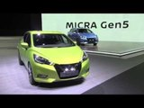 Nissan Micra Gen5 Exterior Design in Green at Paris Motor Show 2016 | AutoMotoTV