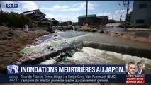 Rues jonchées de détritus, coulées de boue: les ravages des inondations au Japon