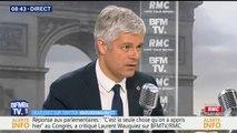 """""""On se contrefiche de la psychologie d'Emmanuel Macron"""", réagit Laurent Wauquiez au discours du Président à Versailles"""