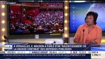 """A Versailles, Emmanuel Macron a parlé d'un """"ralentissement de la hausse continue"""" des dépenses publiques - 10/07"""