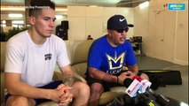 Lucas Matthysse's trainer Joel Diaz talks about the Manny Pacquiao fight on Sunday
