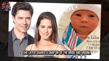 Greta was pictured swaddled Lyndsy Fonseca announces birth of daughter Greta Lilia with Noah Bean