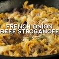 What's better than Beef Stroganoff? FRENCH ONION Beef Stroganoff! Written recipe: