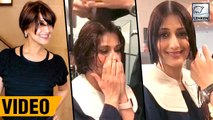 Sonali Bendre Chops Her Hair For Treatment | WATCH VIDEO