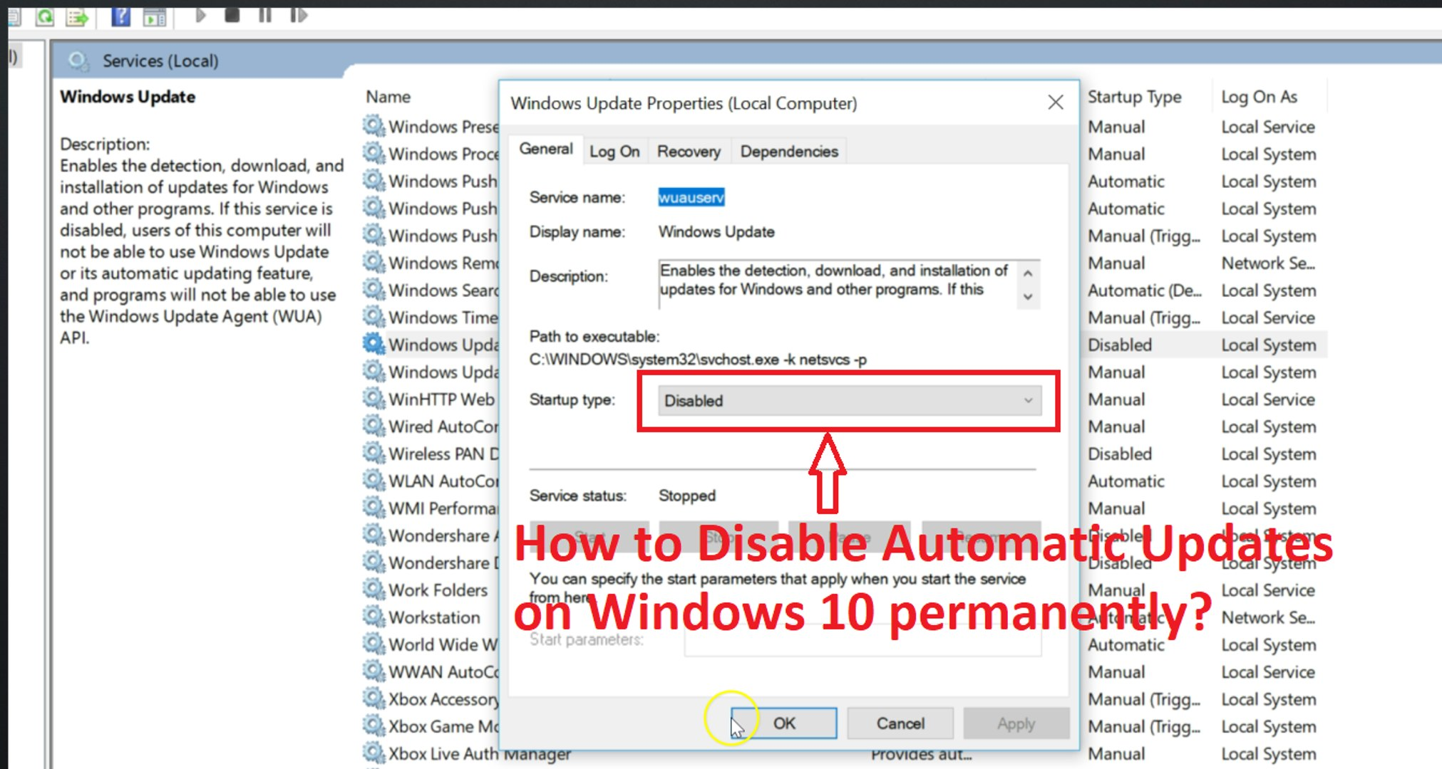 How to Disable Automatic Updates on Windows 10 Permanently?