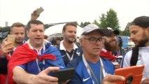 Le coin des supporters - Les supporters des Bleus mettent l'ambiance
