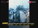 Mobil Minibus Tabrak Pembatas Jalan, Penumpang Tewas Jatuh dari Atas Jalan Tol - Police Line 11/05