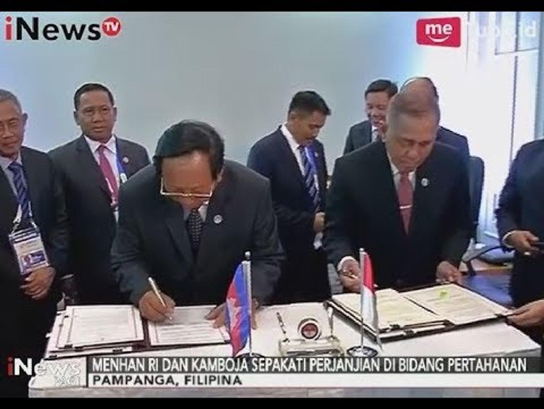 Menteri Pertahanan Indonesia Jalin Kerjasama Dengan Menteri Pertahanan Kamboja - iNews Pagi 26/10
