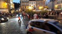 La joie place des Vosges à Epinal après la victoire