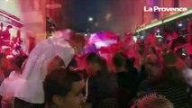 Les Bleus en finale : explosion de joie, fumigènes... Les Marseillais fêtent la qualification sur le Vieux-Port
