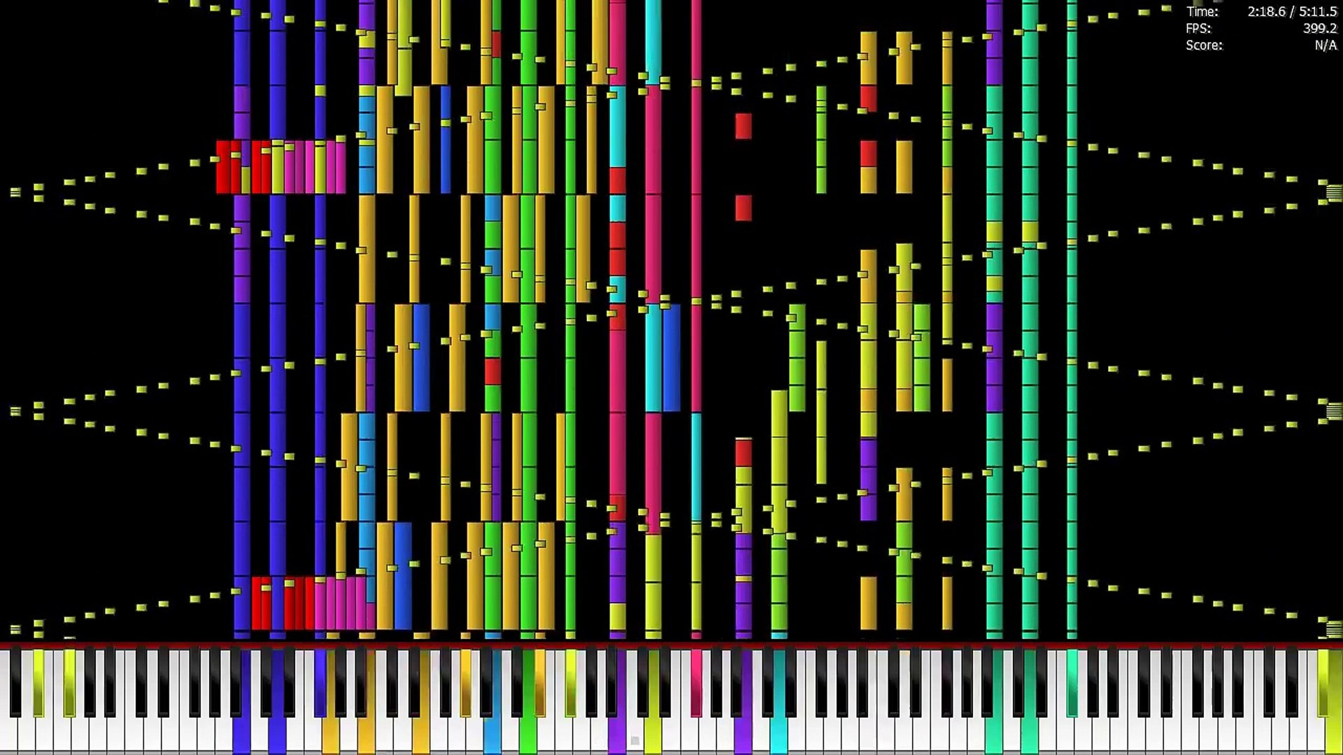 Grieg In the Hall of the Mountain King Impossible Piano Remix Black MIDI ~  Sir Spork