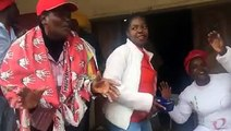 MDC supporters at a local beer drinking hall in Zvishavane, Midlands province.