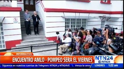 López Obrador se reunirá este viernes con el secretario de Estado de EE. UU.