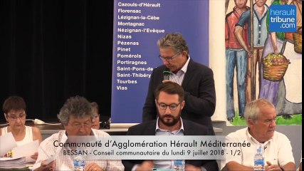 CONSEIL COMMUNAUTAIRE Communauté d'Agglomération Hérault Méditerranée du 9 juillet 1-2