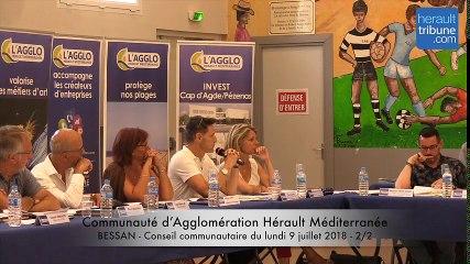 CONSEIL COMMUNAUTAIRE Communauté d'Agglomération Hérault Méditerranée du 9 juillet 2-2