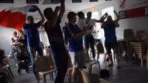 Célébration victoire équipe de France (1/2 finale coupe du monde France Bélgique)